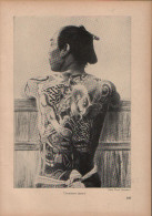 Tätowierter Japaner - Druck, Entnommen Aus Velhagen Und Klasings- Monatsheften/ 1924 - Zeitungen & Zeitschriften
