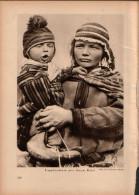 Lappländerin Mit Ihrem Baby - Druck, Entnommen Aus Velhagen Und Klasings- Monatsheften/ 1924 - Zeitungen & Zeitschriften
