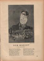 Der Radiot / Toto - Druck, Entnommen Aus Velhagen Und Klasings- Monatsheften/ 1924 - Zeitungen & Zeitschriften