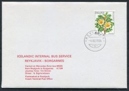 1984 Iceland Icelandic Bus Service Reykjavik / Borgarnes Mercedes Benz, Coach Terminal Post Office (1 Of 10 Covers) - 1944-... Repubblica