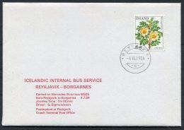 1984 Iceland Icelandic Bus Service Reykjavik / Borgarnes Mercedes Benz, Coach Terminal Post Office (1 Of 10 Covers) - 1944-... Republique