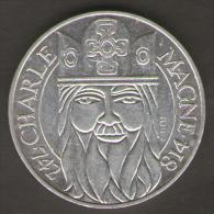 FRANCIA 100 FRANCHI 1990 CHARLE MAGNE AG SILVER - Francia