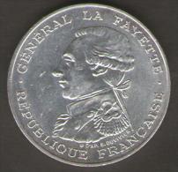 FRANCIA 100 FRANCHI 1987 GENERAL LS FAYETTE AG SILVER - Francia