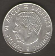 SVEZIA 5 KRONER 1955 AG SILVER - Svezia