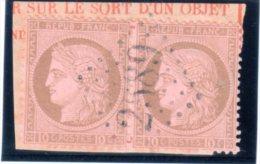 """FRANCE : GC 2589 . """" MURON """" . (16) . N° 54 . TB . SUR FGT . PAIRE . - Marcophilie (Timbres Détachés)"""