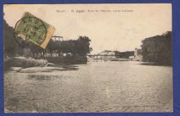 WW - CPA HERAULT (34) - 12- AGDE - RIVES DE L HERAULT- VUE DE LA RISERIE - - Agde