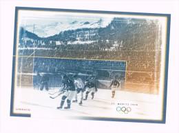 ST. Moritz 1928 /Schweizer Eishockey An Olympischen Winterspielen/Hockey Sur Glace/Hockey Sul Ghiaccio - Hockey - Minors (Ligue Mineure)