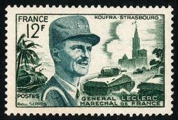 FRANCE 1954 - Yv. 984 *   Cote= 2,15 EUR - Maréchal Leclerc De Hautecloque  Et Cath. De Strasbourg ..Réf.FRA28249 - France