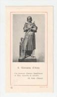 HOLY CARD, SANTINO D´EPOCA - S. Giovanna D´Arco - AMBROSIANA Serie E N. 59 - IMAGE PIEUSSE - Santini