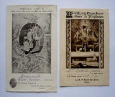 2 Images Pieuses  - POUR LA DELIVRANCE DES AMES DU PURGATOIRE -  R.P Abbé De LERINS - Images Religieuses