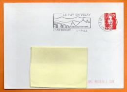 43 LE PUY EN VELAY   SON SECTEUR SAUVEGARDE  4 / 3 / 1993 Lettre Entière N° M 855 - Postmark Collection (Covers)