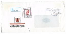 Croatia.Yugoslavia.MIX FRANKING.R - Letter :  Zagreb Via Skopje 16.07.1991.RARE - Croatia