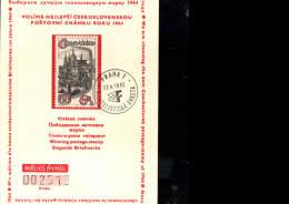 27 - 5 -1965 ANNULLO SPECIALE CECOSLOVACCHIA PRAGA FILATELISTICKA ANKETA PRAHA - Czechoslovakia