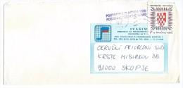 Croatia.Yugoslavia.MIX FRANKING. Ivanic Grad Via Skopje 16.07.1991.RARE - Croatia