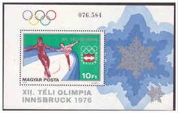 779 Hungaria 1975 Winter Olympic Skating S/S MNH - Winter 1976: Innsbruck