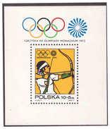 786 Polska 1972 Olympic Archery S/S MNH - Zomer 1984: Los Angeles
