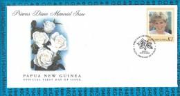 FDC Cover Papua New Guinea - Princess Diana - Familles Royales