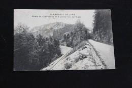 CPA  39 * ST LAURENT DU JURA  *  ROUTE DE CLAIRVEAUX ET LE GRAND BEC DE L AIGLE - France