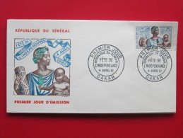 1961 Senegal - 1st Anniversary Of Independence - FDC - Senegal (1960-...)