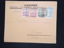 HONGRIE - Enveloppe Pour La France En 1922 - A Voir - Lot P12537