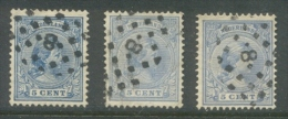 Puntstempel 8 (Arnhem) Op Nvph 35a,b, En C - Usados
