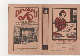 """COUVRE LIVRE """"LIBRAIRIE FLAMMARION """" PARIS- AVEC PUBLICITE  DIVANS JO - - Otros Accesorios"""