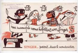 Buvard - Machines à Coudre Singer - M. Durant, Représentant, L'Epinette Libourne - Buvards, Protège-cahiers Illustrés