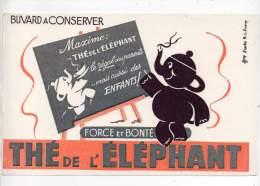 Buvard - Thé De L'éléphant - Buvards, Protège-cahiers Illustrés