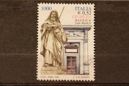 ITALIA USATI 2000 - GIUBILEO 2000 1^ EMISSIONE BASILICA SAN PAOLO - RIF. G 1126 - 6. 1946-.. Repubblica