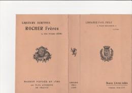 """COUVRE LIVRE """"LIBRAIRIE PAUL PHILY - LYON - PUBLICITE LIQUEUR ROCHER FRERES -LA COTE ST ANDRE -ISERE - Livres, BD, Revues"""