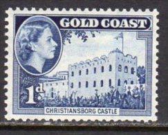 Gold Coast Ghana QEII 1952-4 Definitives 1d Value, Lightly Hinged Mint - Gold Coast (...-1957)