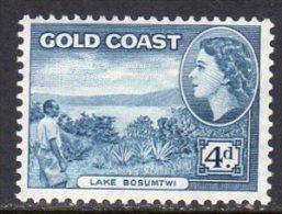 Gold Coast Ghana QEII 1952-4 Definitives 4d Value, Lightly Hinged Mint - Gold Coast (...-1957)