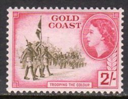 Gold Coast Ghana QEII 1952-4 Definitives 2/- Value, Lightly Hinged Mint - Gold Coast (...-1957)