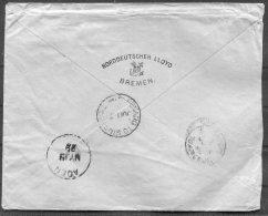 1899 German P.O. China Deutsche Seepost Asiatische Hauptline NDL Cover - Konsulat, Shanghai, Aden,'Penang To Singapore' - Chine