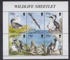 Falkland Islands 1995 Wildlife Sheetlet 6v In Sheetlet ** Mnh (26086A) - Falkland Islands