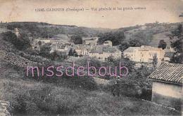 24 - CADOUIN -  Vue Générale Et Grands Coteaux  - Homme -  Dos Vierge - 2 Scans - France