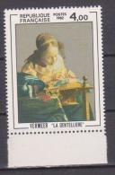 """FRANCE / 1982 / Y&T N° 2231 ** : """"La Dentelière"""" (Vermeer) X 1 BdF Bas - Neufs"""