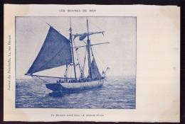 002 - OEUVRES DE MER - Un Bateau Arm� pour la grande P�che - journal des Demoiselles