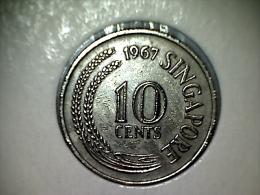 Singapore 10 Cents 1967 - Singapur