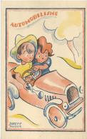 CPA AUTOMOBILISME ENFANTS ILLUSTRATEUR DORETTE MULLER - Ansichtskarten