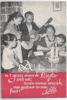 """Famille Regroupée Autour D'une Couronne De Bougies. Guitare, Flûte. """"Ach! Hoe Mooi Is Het Gezin ..."""" - Autres"""