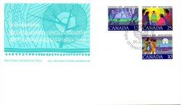 CANADA. N°643-5 De 1977 Sur Enveloppe 1er Jour. Noël/Indiens/Arc. - American Indians