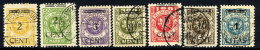 MEMEL (Lithuanian Occupation) 1923 ( Apr/May) Surcharges Set Of 7, Used.  Michel 176-82 - Klaipeda
