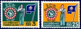Ceylon Girl Guide Assoc., 50th Anniversary, Ceylon Stamp SC#410-411 MNH Set - Sri Lanka (Ceylan) (1948-...)