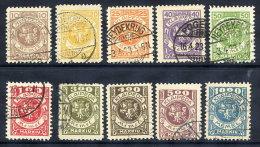MEMEL (Lithuanian Occ) 1923 (Feb) Definitive Set Of 10, Used.  Michel 141-50, Cat. €440 - Klaipeda