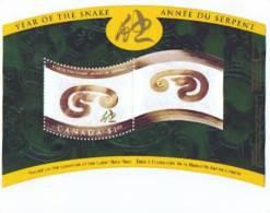 2001  Lunar Year - Year Of The Snake  Souvenir Sheet  Sc 1884  MNH ** - Neufs
