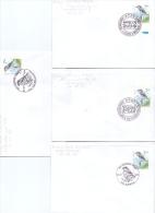 België - Klapekster - FDC's - 4/7/1998  (RM9787) - Passereaux