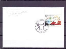 Belgi� -40 jaar vlaamse schaakkring Deurne - briefomslag - Wijnegem 13/6/1998  (RM9833)