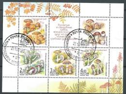 Russie Obl. N° 6742/46  Champignons Vénéneux Et Comestibles - Champignons