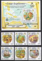 HISTORIA- SANT VICENT 1987- Yvert#H41 1036/41 **  Precio Cat€16 - Independecia USA